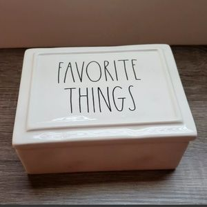 ~Rae Dunn~ FAVORITE THINGS Jewelry Box Ceramic